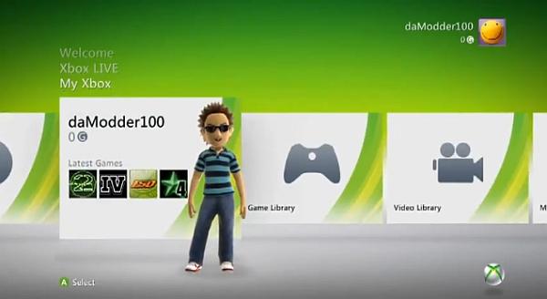 dashboard xbox360: